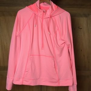 Tangerine workout zip up xl